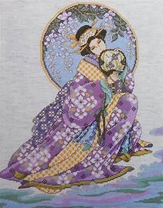 Joan Elliott Cross Stitch Charts Joan Elliott Geisha Oriental Lady Beauty Asian Counted