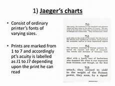 Jaeger Reading Test Chart Visual Acuity By Pd