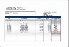 Accounts Receivable Statement Template Statement Of Account Template At Http Www Xltemplates
