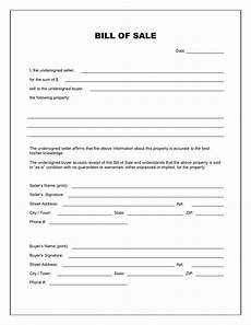 Bill Of Sale Example Free Printable Bill Of Sale Templates Form Generic