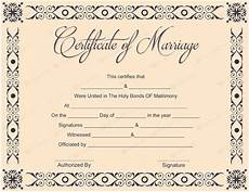 Fake Certificates To Print Printable Marriage Certificate Templates 10 Editable