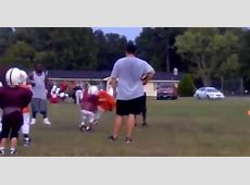 Pee Wee Football Player Destroys Teammate With Thunderous