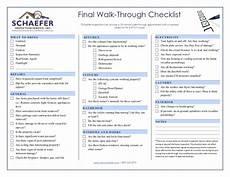 Inspectors Checklist Inspection Checklist Schaefer Inspection Service