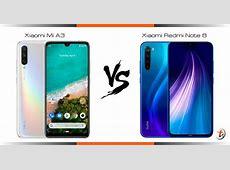 Compare Xiaomi Mi A3 vs Xiaomi Redmi Note 8 specs and