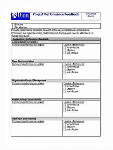 Free Project Management Forms Free 7 Project Feedback Forms In Pdf Ms Word