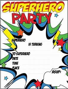 Printable Superhero Invitations 12 Blank Superhero Birthday Invitations Free Printable