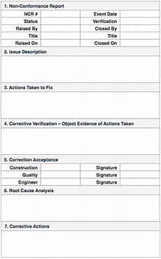 Non Compliance Report Sample Non Conformance Reports Quality Control
