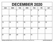 Free December 2020 Calendar Free Printable December 2020 Calendar Wiki Calendar Com
