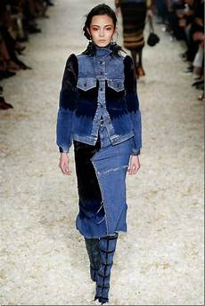 tom ford fall 2015 runway patchwork denim collection