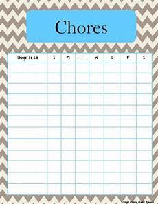 Chore List For Kids More Pretty Chevron Printable Kid S Chore Charts Chore