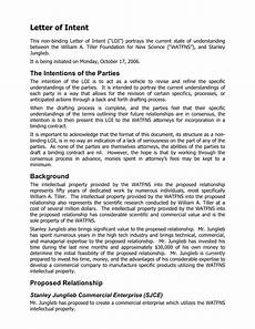 What Is Letter Of Intent Letter Of Intent For Promotion Sample Amp Templates