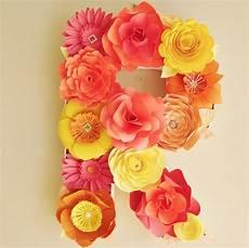 letras con flores letras decoradas con flores de papel para todo tipo de