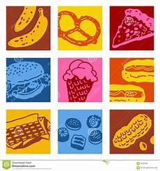 Pop Art Food Pop Art Objects Food Stock Vector Illustration Of Pizza