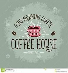 kaffe plakat kaffeeillustration kaffee plakat weinlesezeichen mit