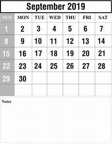 Free Printable September Calendar Free September 2019 Printable Calendar In Pdf Excel