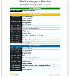 Conference Program Design Template Conference Agenda Template Basic Format Dotxes