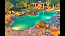 Pool Designs And Cost Best Tropical Swimming Pool Design Ideas Plans Waterfalls