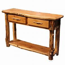 Rustic Wood Sofa Table 3d Image by Log Sofa Table Country Western Cabin Rustic Wood Living