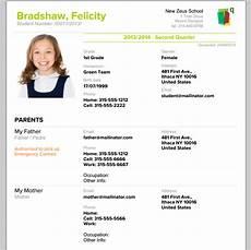 Biodata For School Students Printable Student Profile School Management Amp Student