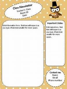 Thanksgiving Newsletter Template Free Thanksgiving Newsletter Template Editable By Ms R Turner
