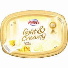 Peters Light And Creamy Vanilla Slices Peters Light Amp Creamy French Vanilla Ice Cream 1 8l