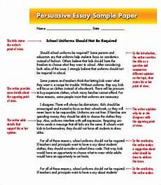 Persuasive Writing Essay Example Persuasive Essay Template 7 Free Sample Example