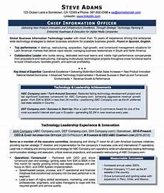 Cio Sample Resume Resume Examples Cv Sample Resume Templates Rso Resumes