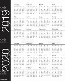 Images Of 2020 Calendar Year 2019 2020 Calendar Vector Design Template Stock