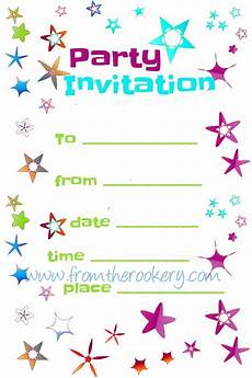 Birthday Party Invitation Templates Free Printable Free Party Invitations Printable Invitation Templates