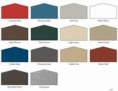 Morton Building Color Chart Color Options For Wall And Roof Panels