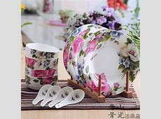 12 piece set, floral blossom designed, bone china dish set