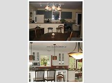 before and after white kitchen cabinet remodel with labrador formica granite, oak flooring and