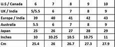 Zac And Size Chart Size Conversion Chart And Fitting Adjustment Instruction