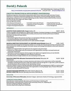Resume For A Promotion Promotions Amp Development Expert Write Stuff Resources