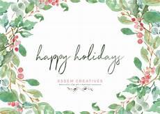 Christmas Card Borders Free Watercolor Christmas Photo Card Templates Essem Creatives