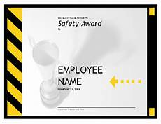 Safety Award Certificate Template Employee Safety Award
