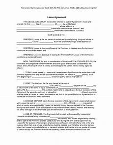 Example Lease Agreement Sample Lease Form Blank Lease Example Template 8ws