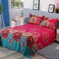 wholesale bohemian elephant bed cover flat sheets 3d