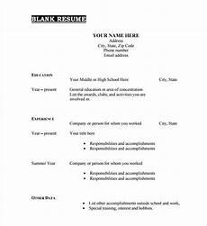 Blank Cv Format Download 46 Blank Resume Templates Doc Pdf Free Amp Premium