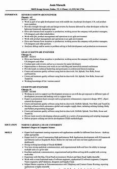 Resume Reading Software Ui Software Engineer Resume Samples Velvet Jobs