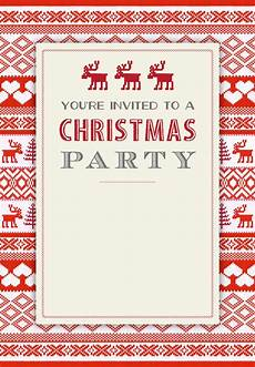Printable Christmas Party Invitations Free Templates Sweaters Pattern Free Printable Christmas Invitation