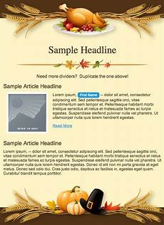 Thanksgiving Newsletter Template Free Free Email Templates To Celebrate Thanksgiving Email