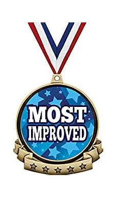 Most Improved Award Amazon Com Most Improved Medals 2 5 Quot Gold Most