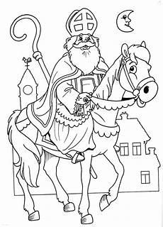 Ausmalbilder Bischof Nikolaus Kleurplaat Sint