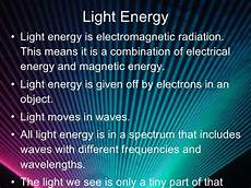 What Does Light Energy Mean Light Energy