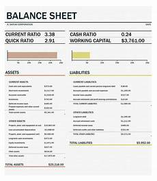 Form Of Balance Sheet 41 Free Balance Sheet Templates Amp Examples Free Template