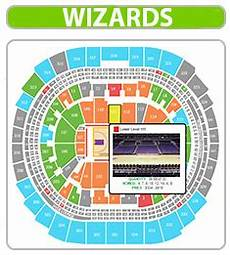 Washington Wizards Seating Chart With Rows Wizards Seating Chart