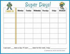 Weekly Behavior Chart Free Weekly Behavior Chart Super Days Acn Latitudes