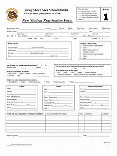 Student Enrollment Form Template Student Registration Form 5 Free Templates In Pdf Word
