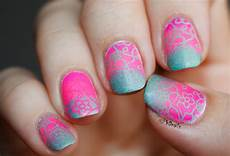 Light Pink And Green Nails Phd Nails June Macro Challenge Neon Pink And Green Matte